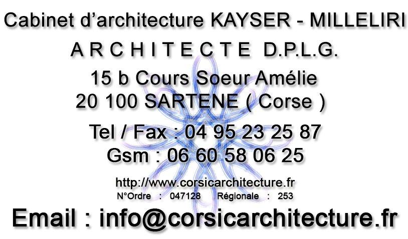 * architecture et architecte DPLG en Corse