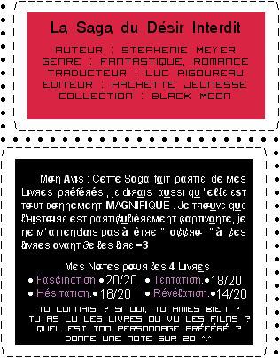 ...♥ La Saga Du Désir Interdit  xD de Stephenie Meyer [ Fantastique & Romantique ] ...