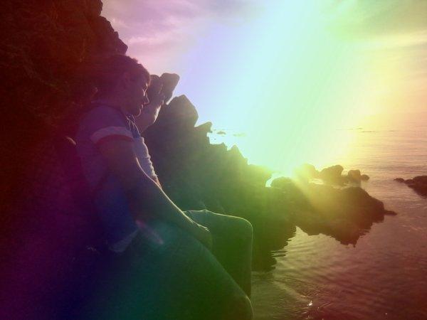 la couché de soleil en couleur ♥