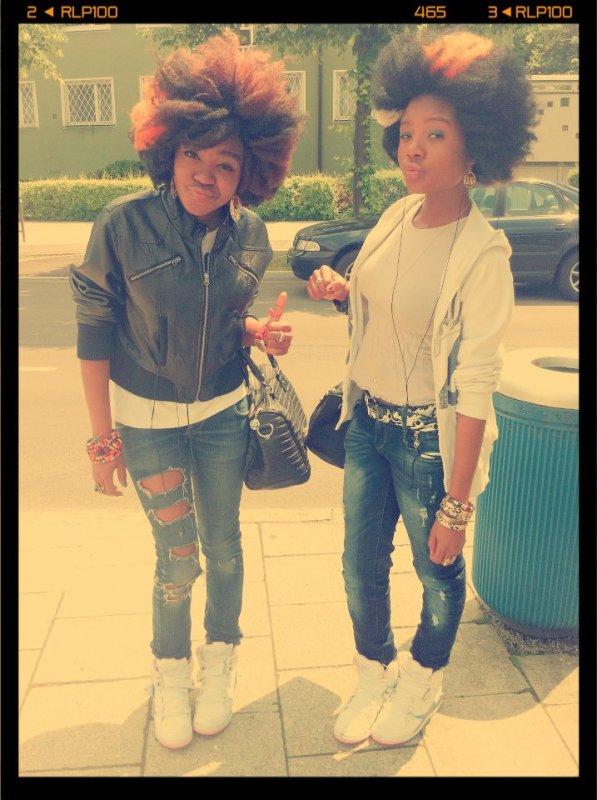 me et ma sister !