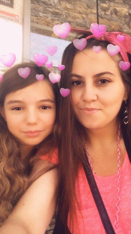 Avec ma filleule...