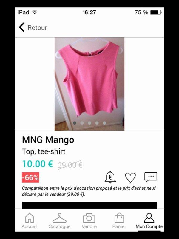 * Haut Mango Rose *