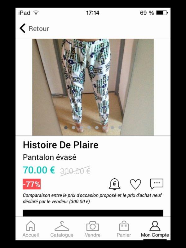 ** Pantalon Histoire de Plaire **