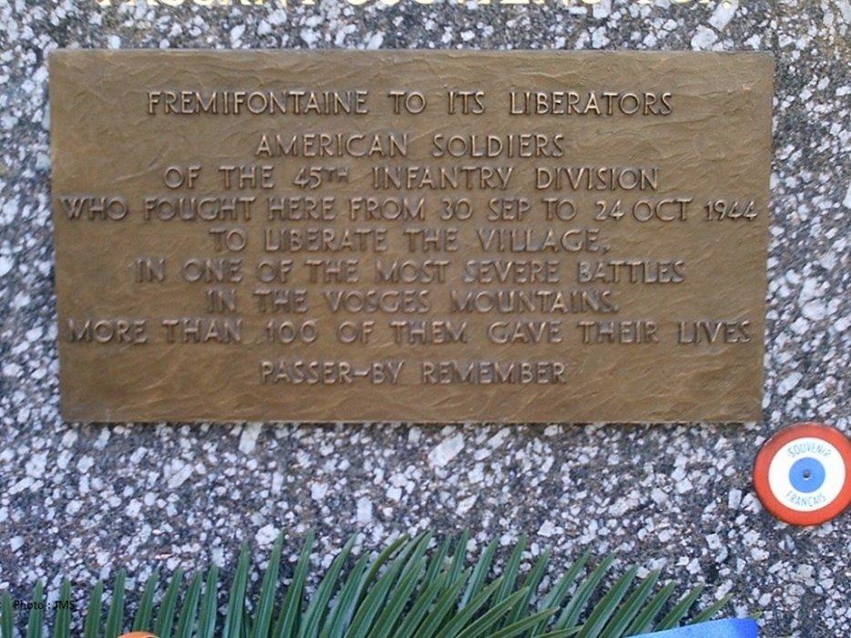 Le monument 45th Division.