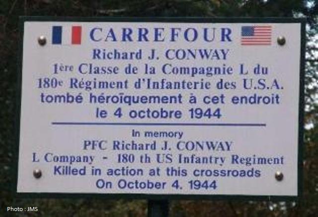 Plaque de rue Conway - Conway sign.
