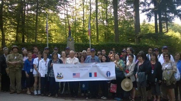 Visite du monument 45ème Division à Frémifontaine