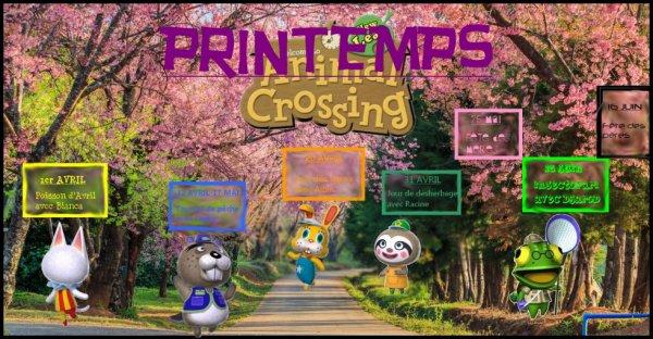 ACTIVITES ACNL - PRINTEMPS
