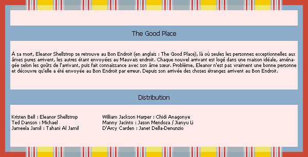 The Good Place ♥La vie après la mort