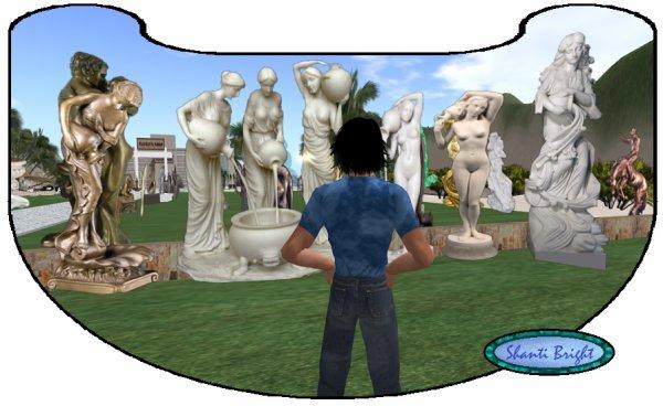 Dernière visite aux statues d'Azuzena