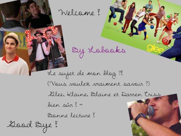 Nouveau sujet du blog : Glee, Klaine, Blaine, Darren Criss ^^