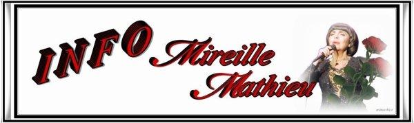 Die Mireille Mathieu Infostelle Deutschland teilt mit  .....  PRESSE - LA PRESSE / TV - LA TELE
