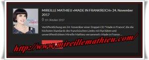 "Mireille Mathieu                    . ""ab 24.11.2017 - neue Doppel-CD"""
