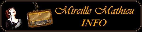 Die Mireille Mathieu Infostelle Deutschland teilt mit  ....TV / RADIO / LINKS -- TELE / RADIO / LIENS