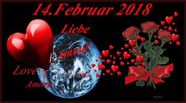 2018 - Valentinstag / Saint Valentin              (Tag der Liebe / Jour de l'amour)