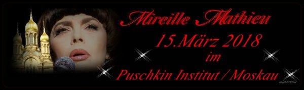 """Mireille Mathieu  ... """"Heute im Puschkin Institut Moskau - Ehrung...."""""""