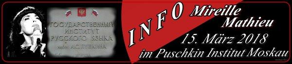 """Mireille Mathieu """"aktuell""""... im Puschkin Institut  div. Videos und Artikel ... und über die Klassik CD"""
