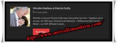 Mireille Mathieu                 Die offizielle Website wurde aktualisiert