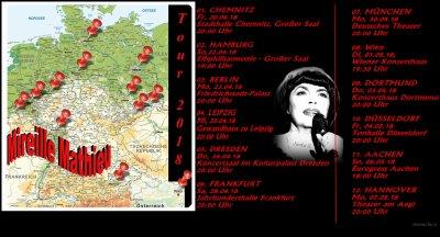 """Mireille Mathieu               """"Aktuelles, Gewinnspiel  und......"""""""