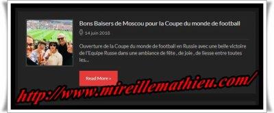 Mireille Mathieu bei der Eröffnungsfeier der Fussball WM