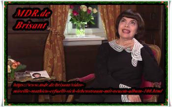 4.12.2018   ..u.a. Mireille Mathieu bei Brisant - die offiz. Website aktualisiert   und heute Abend bei der Carmen-Nebel Show ...