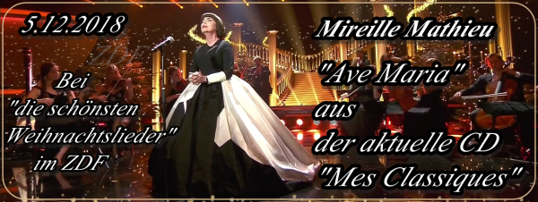 Mireille Mathieu  bei Carmen Nebel & 6.12.2018 NikolausTag