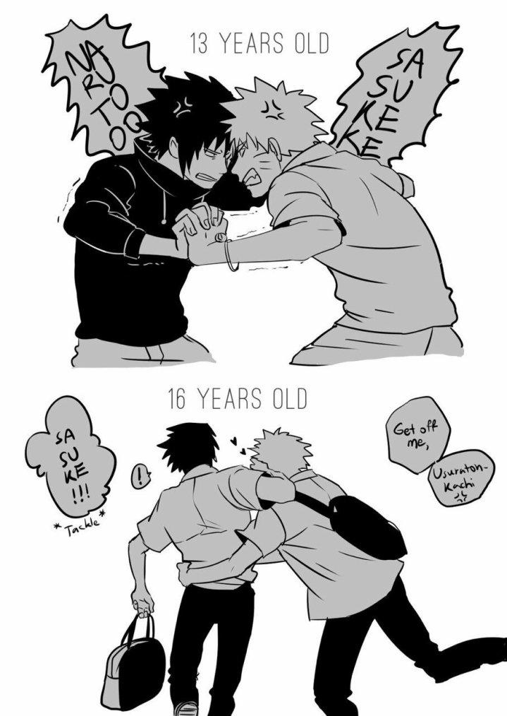 -Naruto et Sasuke les amis inséparable