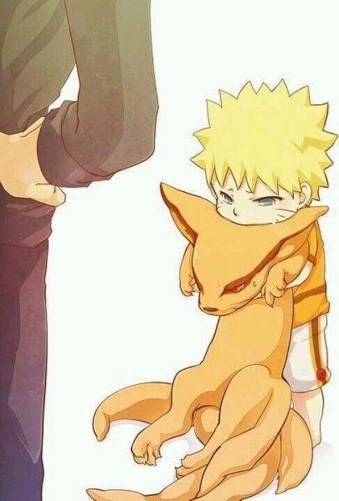 ✰- Naruto et Kurama.