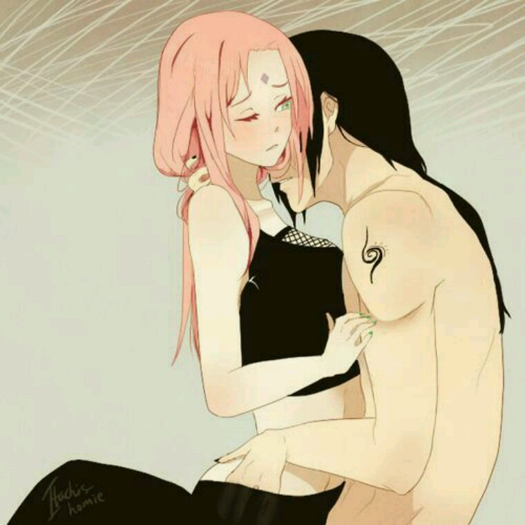 Sakura and Itachi!
