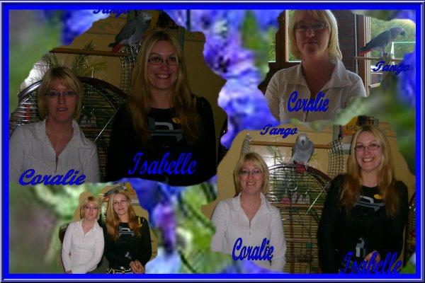 visite de Coralie et Isa
