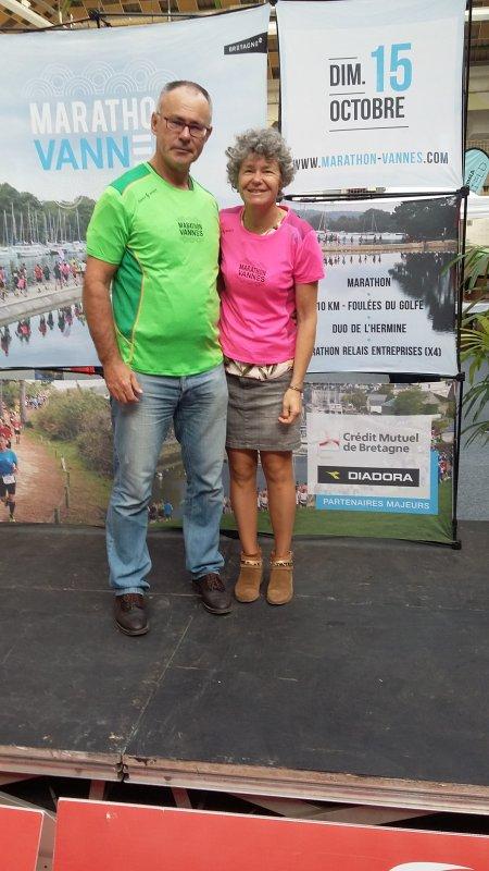 marathon de Vannes et duo 15 /10/2017