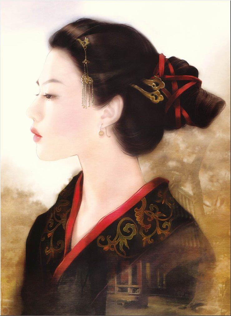 Femmes asiatiques dessins d 39 art for Artiste peintre chinois