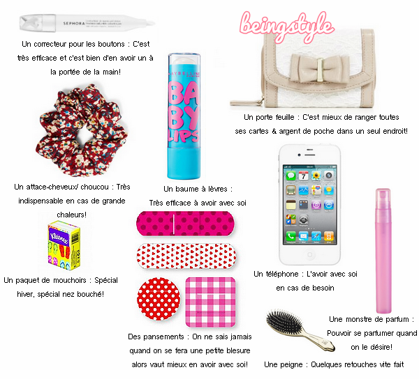 FOURTH ARTICLE : WHAT I NEED IN MY BAG? ☼