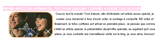 FIRST SPECIAL ARTICLE : PREMIER ARTICLE DES INTERNAUTES (OCTOBRE 2014) ! ☼