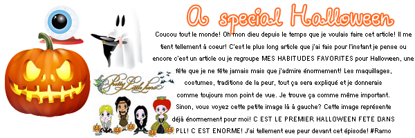 SECOND SPECIAL ARTICLE : AN SPECIAL HALLOWEEN! ☼