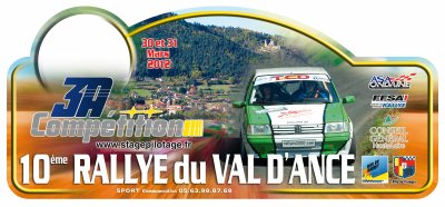 RALLYE NATIONAL DU VAL D ANCE 2012