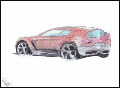 dessin voiture (dodge arrière)