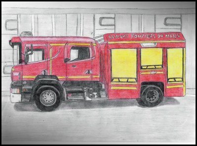 Dessin Camion De Pompier Le Monde De Miss Aurore
