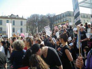 Marche à Nîmes (Asso Galgos)