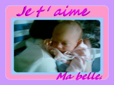 Ma princesse ... Ma vie ca ne peux etre que ma fille ..;
