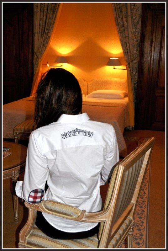 shooting exclusif avec miss Bourgogne :Elodie Paillardin: Promotion de la marque Charles Hutton...chemise de luxe