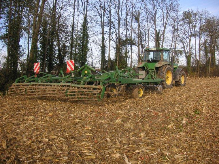 préparation des terres pour semis de blé
