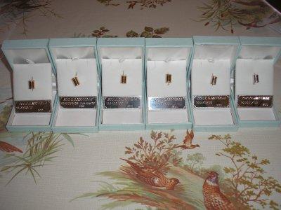4 bagues  en or et 2 en argent  saison 2010