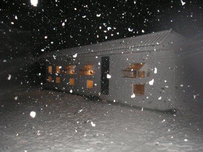 pigeonnier  avec la neige