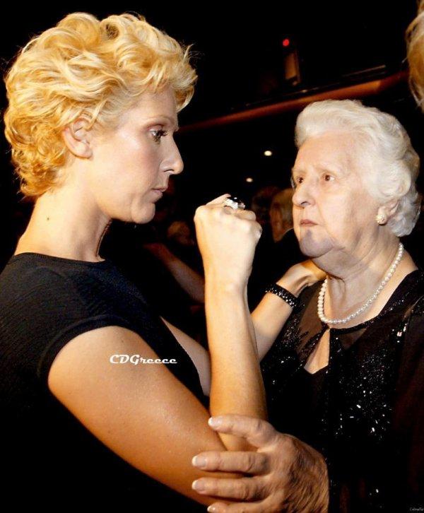 Rare photo! Je t'aime maman... - Celine Dion