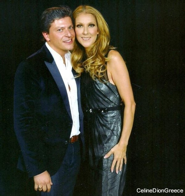 Celine with Patrizio Buanne(singer) at Caesars Palace on June 23rd 2012