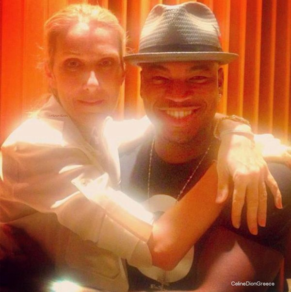 """Celine on 15/7 has had time to go to the recording studio with Ne-Yo.  """"The incomparable Celine Dion! In the studio to do something epic. God is good, the music is good, all the time"""" - Ne-Yo (on twitter)"""