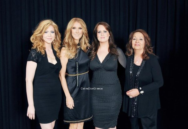 Celine with 3 fans (Stephanie Bagdasarian with her family) on July 24th 2012!