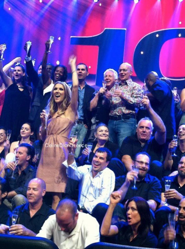 Another Photo for Celine who Celebrated her 100th Show on Sunday Night, August 12, in Las Vegas!