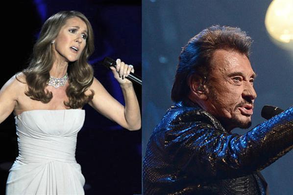 Céline Dion et Johnny Hallyday : le duo de mastodontes