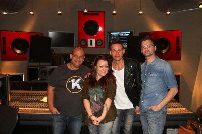 En studio avec Céline Dion